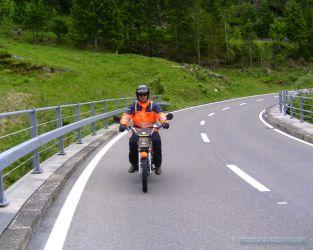 André riding