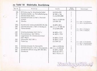 Ersatzteil-Katalog zundapp 429 Zundung Ontsteking