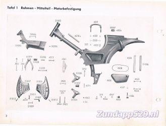 Ersatzteil-Katalog zundapp 429 Rahmen Frame