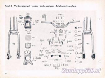 Ersatzteil-Katalog zundapp 429 Vorderradgabel Voorvork