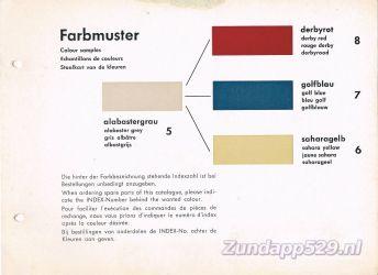 Ersatzteil-Katalog zundapp 429 Farbmuster Kleuren