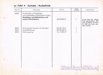 Ersatzteil-Katalog zundapp 429 Zylinder Cilinder